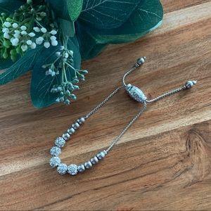 Loft Silver Adjustable Bracelet NWOT